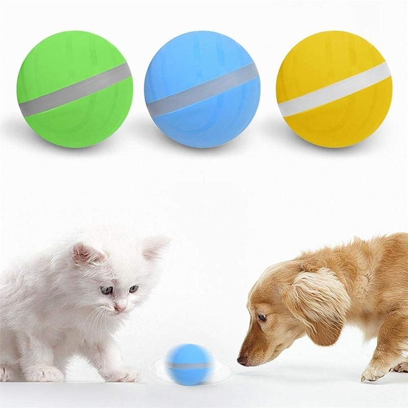 LED Bouncing Pinball Moving Waterproof Dog And Cat Toy USB Electric Pet Ball Automatic Action Fun Interactive Waterproof Toy Y200330