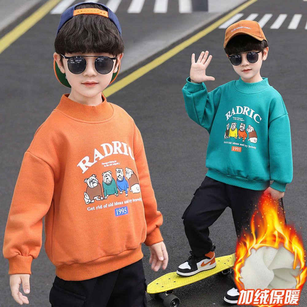 Пуловер Корейский зимняя шерсть хлопковый лайнер мужская буква детский свитер