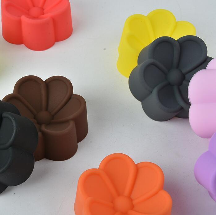 Chocolate moldes dos doces Moldes de Silicone Baking Mould flor em forma de silicone Moldes Soap Mão Muffin Cupcake Baking Mould Ferramentas da cozinha KKB2650