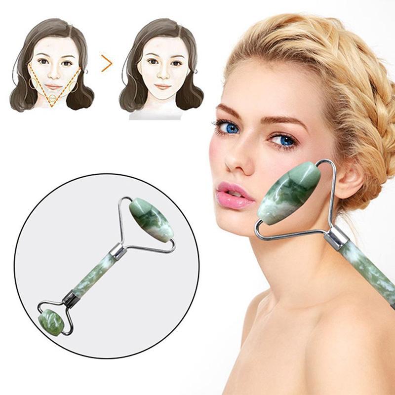 صحة الطبيعة أداة الجمال المحمولة pratical اليشم الوجه تدليك الأسطوانة المضادة للتجاعيد الوجه صحي الجسم رئيس القدم