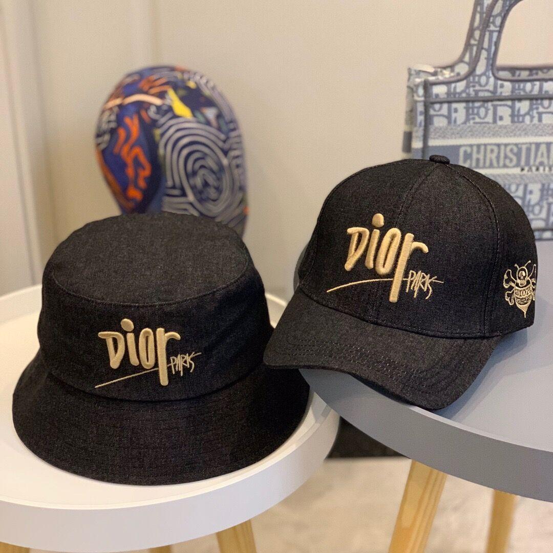 Вышивка дизайнер шляпа золота женщин письма шляпа формальные дизайнер головные уборы случайных моды роскошь зима Bucket Hat