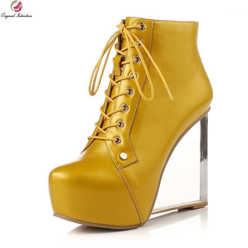 Botas Intenção Original Mulheres Elegantes Tornozelo Redondo Toe Estilo Estilo Salto Preto Fushcia Sapatos Mulheres Tamanho 3-9.51