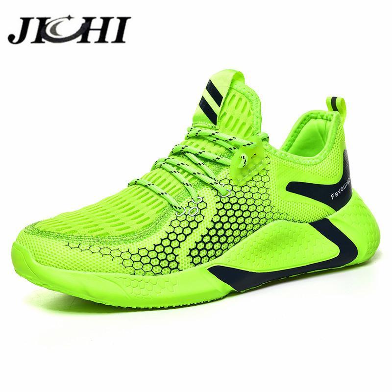 JICHI Comfortable Men's Sneaker Breathable Casual Sneakers for Men Light LaceUp Shoes for Men Fashion Design Zapatillas Hombre LJ201124