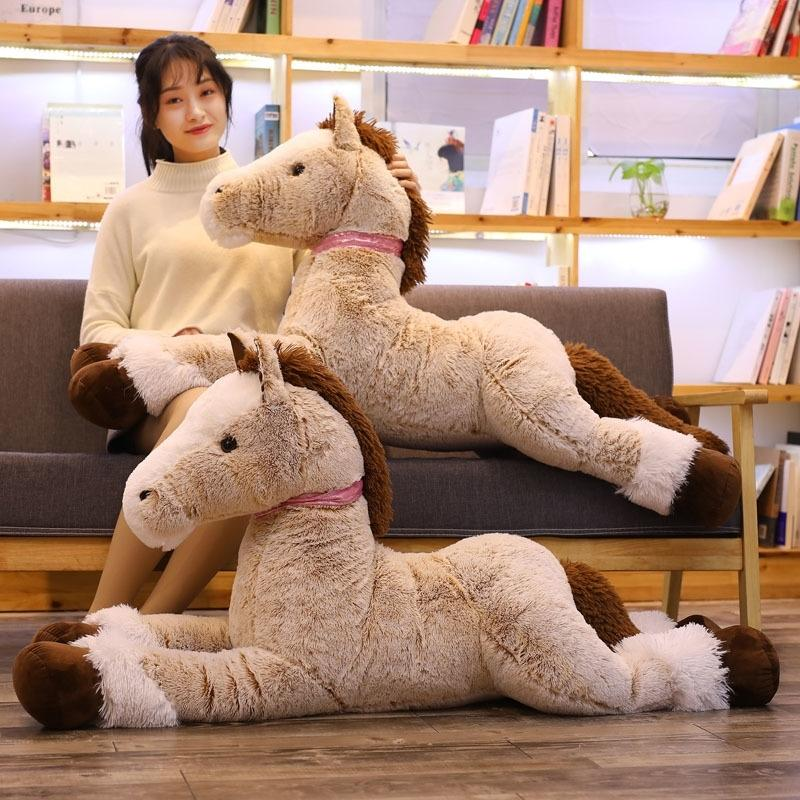 120cm novo cavalo de pelúcia brinquedo grande tamanho big billy boneca bebê crianças presente de aniversário casa loja decoração triver de alta qualidade brinquedo y200111