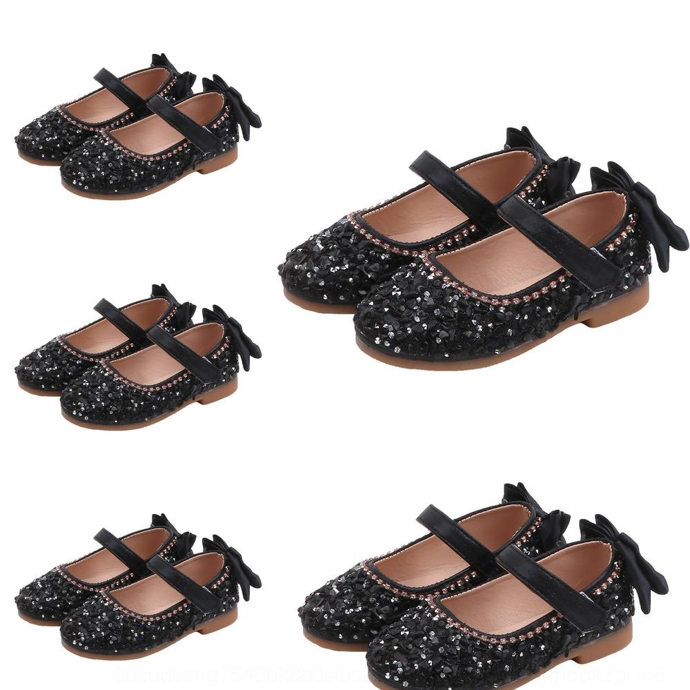 Synka 2020 весной и осенью корейской версии girlsshoesgirlsbabyRhinestone Sequin Rhinestone насосы Sequined насосы принцессой shoesleisure ш
