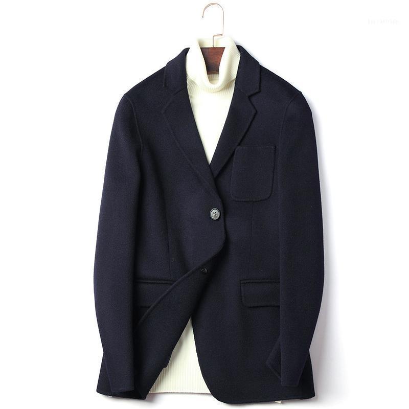 Yolanfairy Chaquetas de lana de doble cara para hombres Otoño Invierno Top Calidad Warm Wool Blazer de Hombre 2020 Abrigo D-20-1617 MF6351