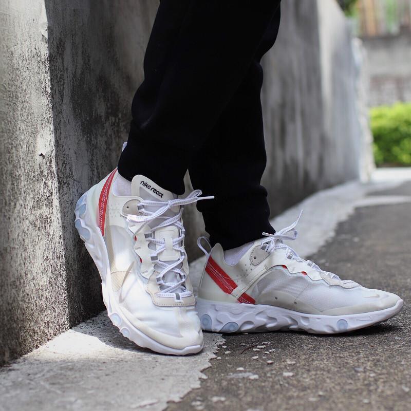 React Element 87 Mens Womens shoes mens Trainers Light Black Sail Light Bone Hiking Jogging Zapotos sport shoes sneakers