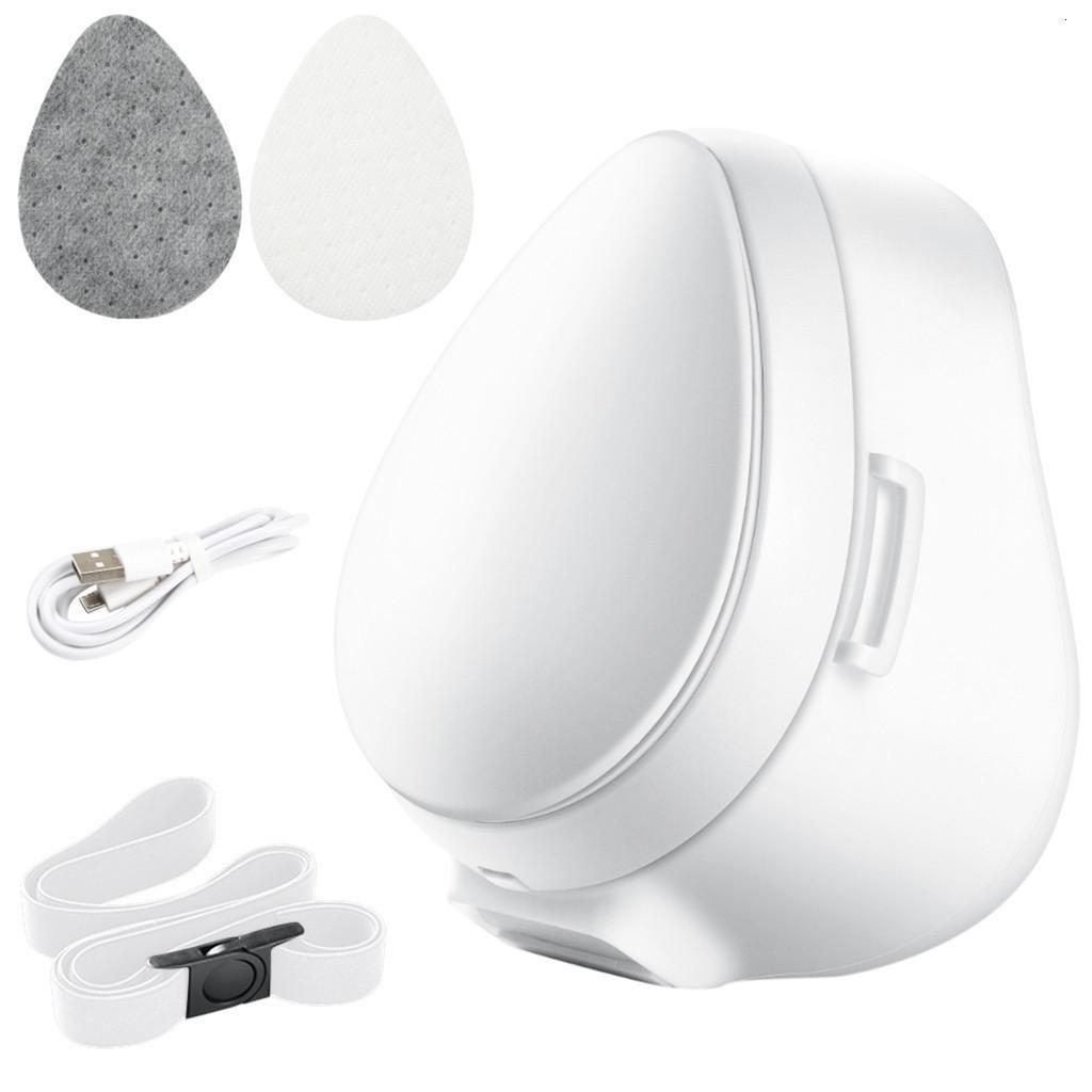 Com Motor de Ventilador USB 1 PC Charging Máscara Elétrica e Filtro em Filtro de Filtro de Ear Resultável EL ZWQX