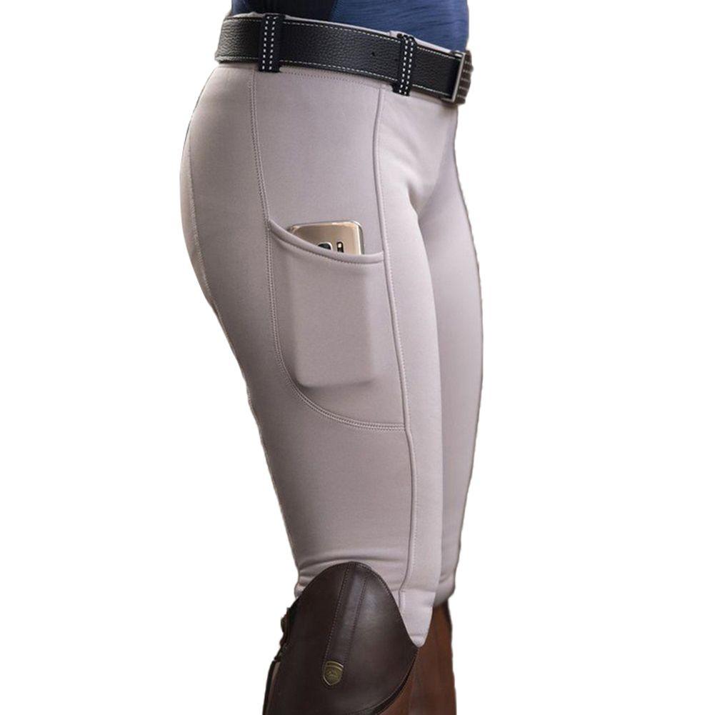 Women Solid Color Poet Hip Lift Elastic Equestrian Pants Horse Racing Trousers premium material High waist seamless leggings