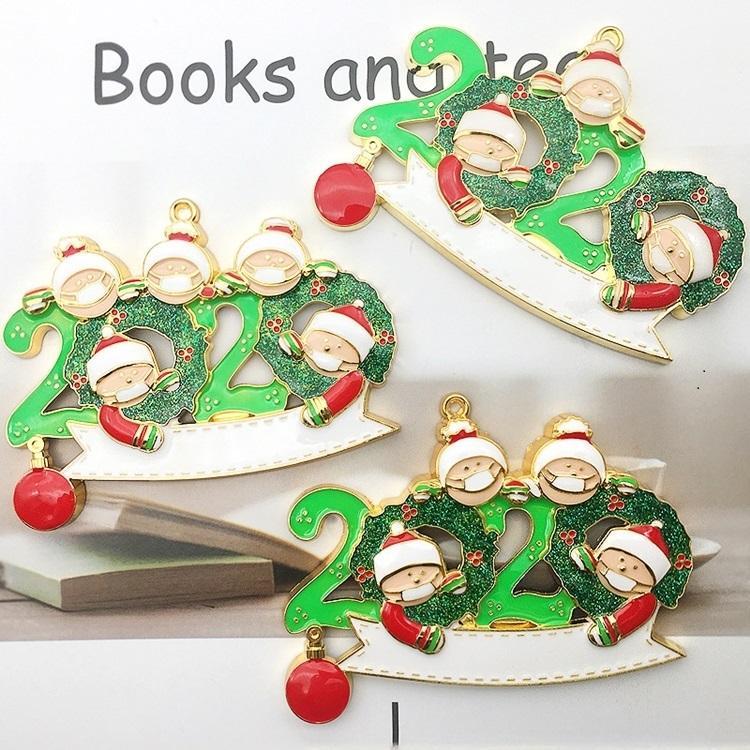 HOT Weihnachtsdekorationen 2020 DIY Schneemann-Anhänger Weihnachtsbaum Anhänger Legierung Anhänger Weihnachtsbaum Ornament 120PCS T500410