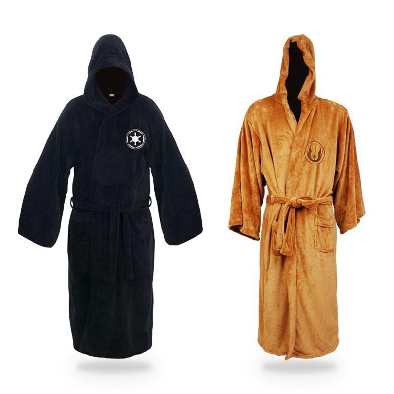 Les nouveaux hommes d'hiver Kimono Peignoir Robe de chambre Flanelle Robes Empire Jedi Homme Peignoir fz2663 de nuit Casual