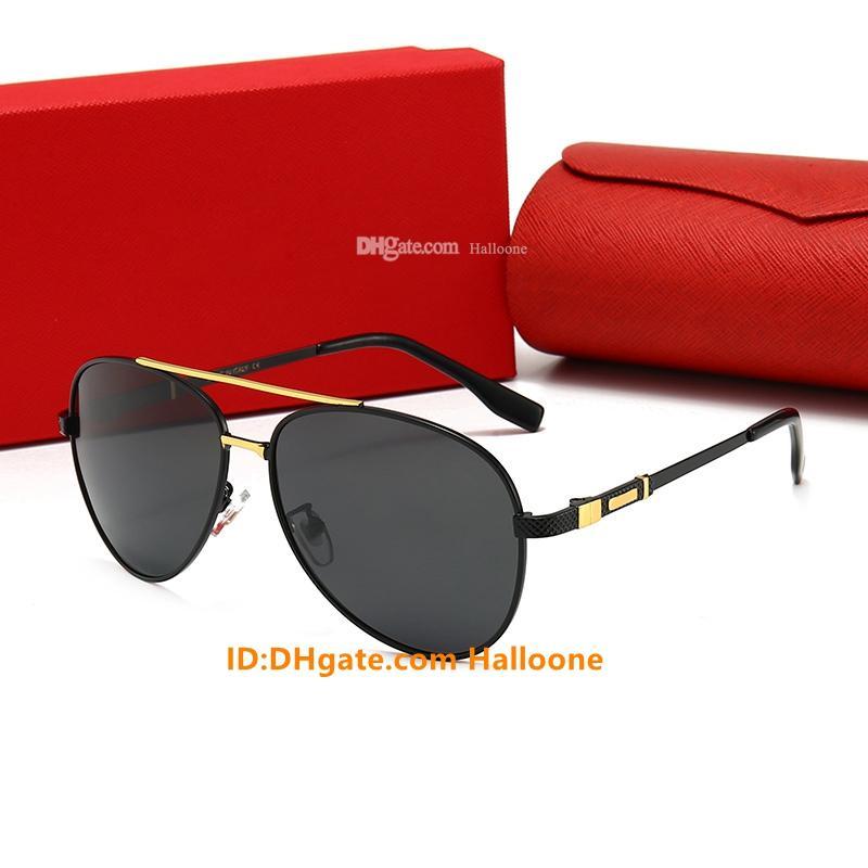 Eyewear Hot Frame Designer Polarisierte UV400 Fahrer Frauen Sonnenbrille Pilot Sonnenbrille 0123 Glas Männer Brille Metal Verkauf mit Klassiker Len NPOG