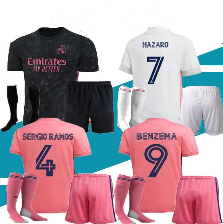 Neue 20 21 Männer Kit 2020 2021 Ramos Fussball Trikots Gefahren Benzem MODRIC ISCO ASENSIO Camiseta de Futbol Football Uniform Sets Jersey