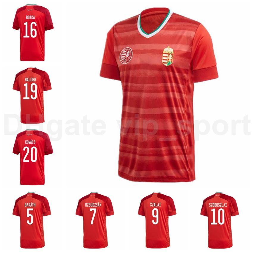 20 21 Hungria Soccer Jersey 9 Szalai 17 Varga 16 Patkai 8 Nagy 10 Szoboszlai 16 Botka 21 Bese Home Camisa de Futebol Kits