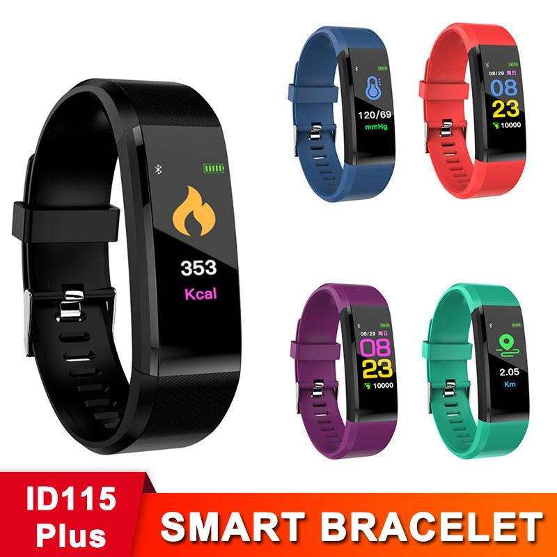 CALDO all'ingrosso ID115 più intelligente Bracciale Fitness Tracker Passo contropressione Activity Monitor Banda Heart Rate Monitor Sangue Wristband