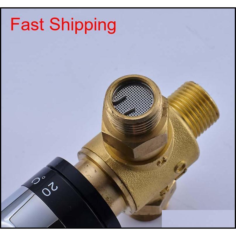 Латунный роскошный термостатический клапан клапана клапана регулировки температуры для солнечного водонагревателя P KILQWS Hairclippersshopshop