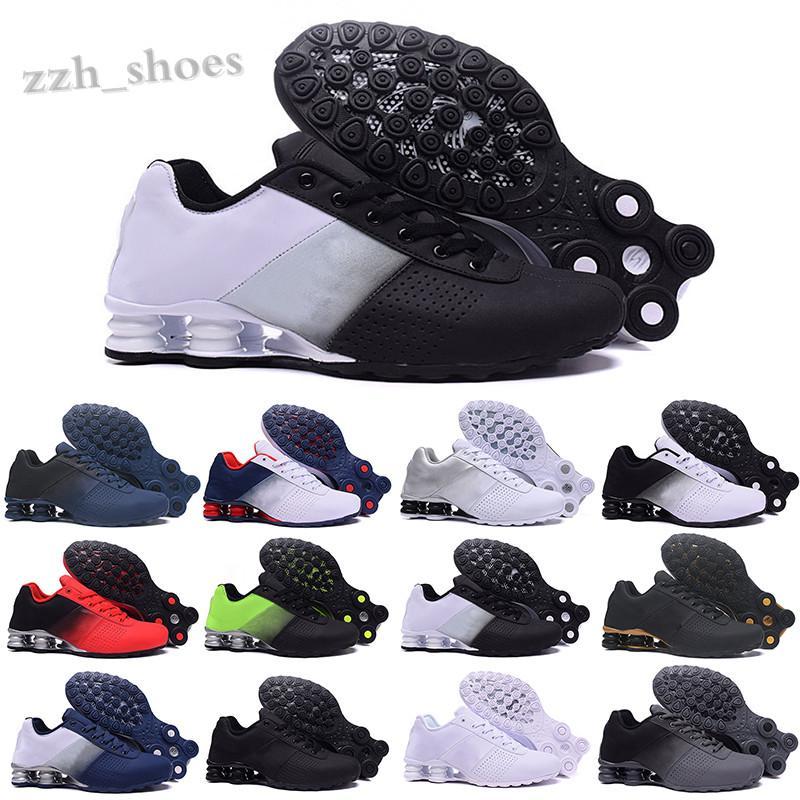NIKE AIR MAX SHOX 809 803 R4 Yeni varış teslim sho 809 üçlü beyaz siyah ayakkabı erkekler için pembe gri siyah teslim oz nz erkek moda eğitmenler sneakers pr07