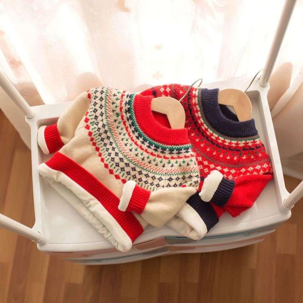 Jacquard mmtkids 2020 suéter de invierno chicas cuello redondo pellusco espesado para niños y447