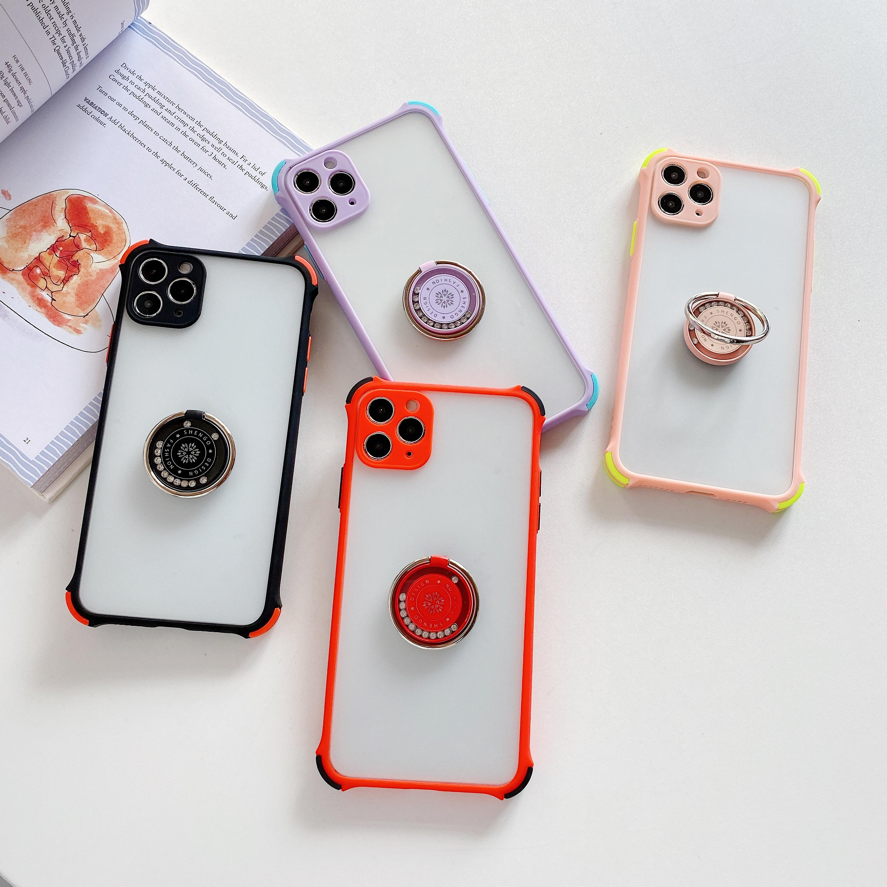 Kickstand С Finger Ring Phone Case для iPhone12 про Макса 12pro iPhone11promax 11Pro Xsmax XR Xs 8Plus