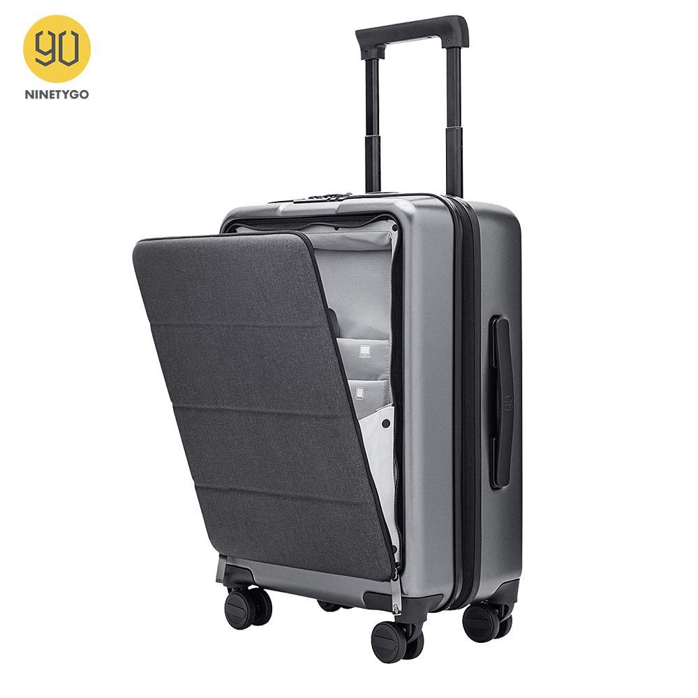 Ninetygo Portez des bagages avec des roues de fileur 20 pouces Hardside Hardside Hardside Suit Valise Conforme à la poche avant Couvercle de verrouillage de poche avant LJ200928