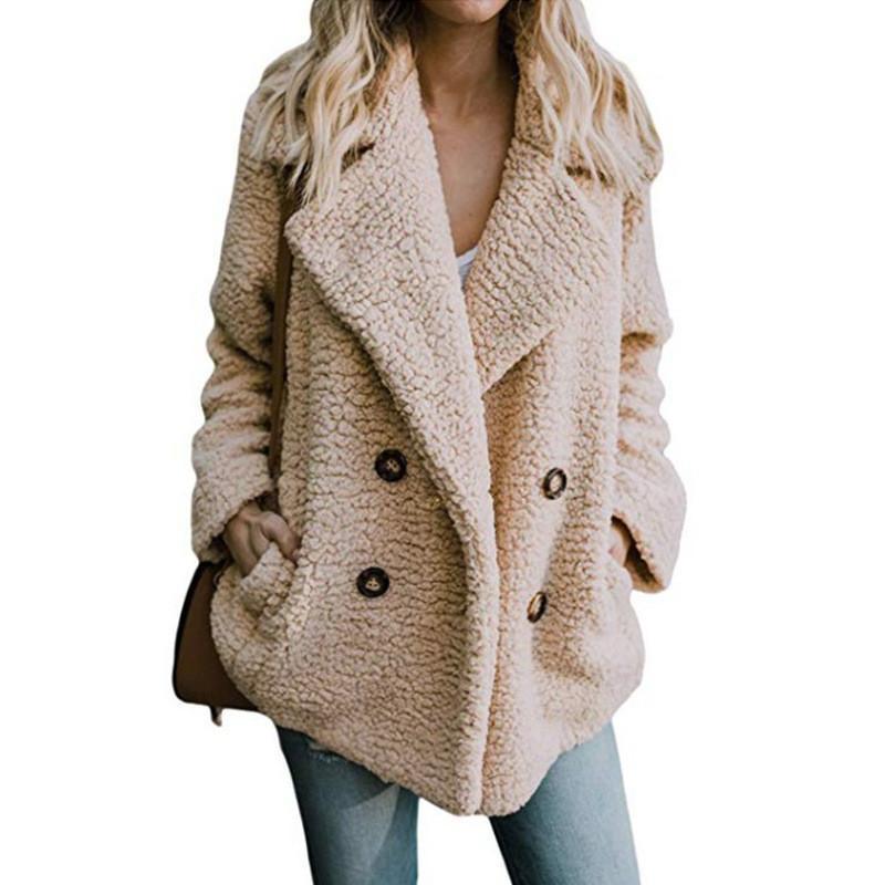 Aprmhisy 5xl novo outono jaqueta de inverno mulheres feminino grosso quente lãs dupla breasted casual casacos de rua