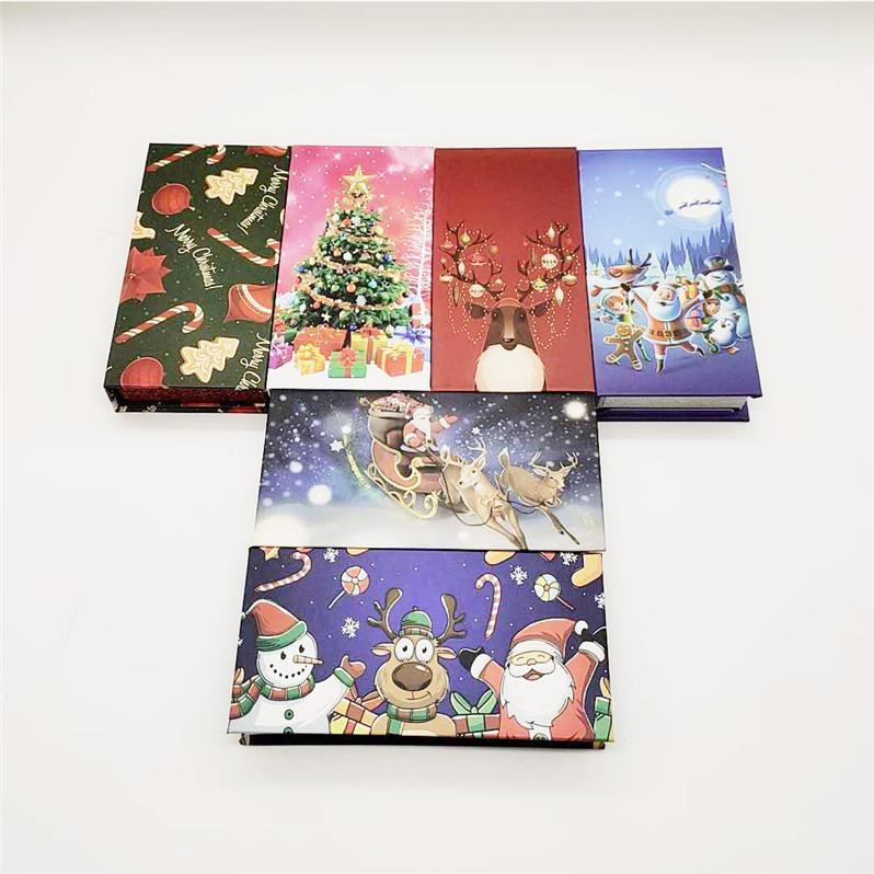 Шесть стилей Ложные Ресницы Дело Магнитная коробка норковые Ложные Ресницы Box Рождество Ресницы Box нет норковые Lashes