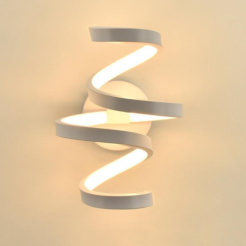 벽 램프 LED 램프 북유럽 스타일 침실 조명 AC 85-265V 거실 조명 실내 따뜻한 흰색 / 차가운 흰색 빛