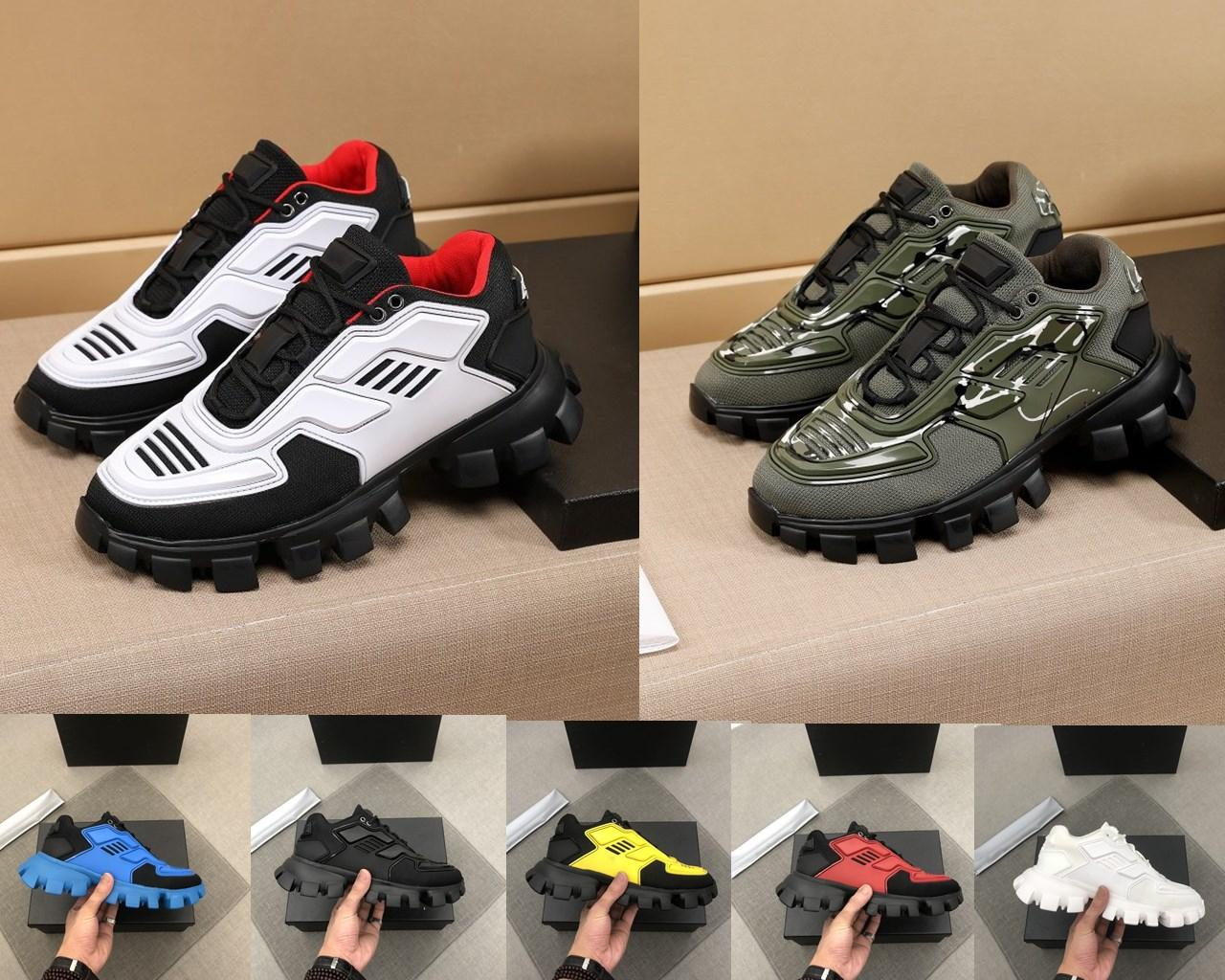 2021 New Top Designer Sapatos Masculinos Plataforma Sapatos Alto Mercerizado Couro Costura Tecido Respirável Tamanho 38-45