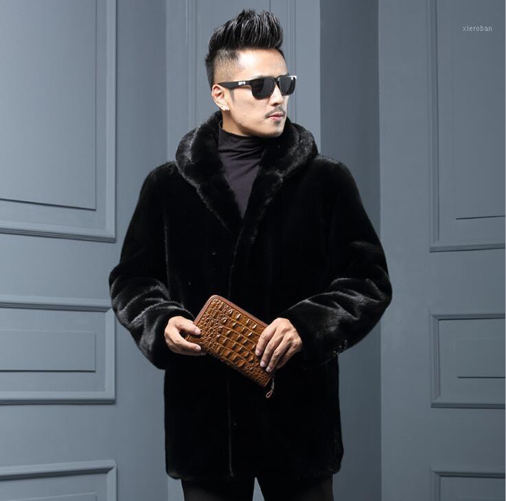 Autumn Faux Chaqueta de cuero para hombre invierno espesar piel cuero abrigo de cuero hombres sueltos jaquetas de la moda b1641