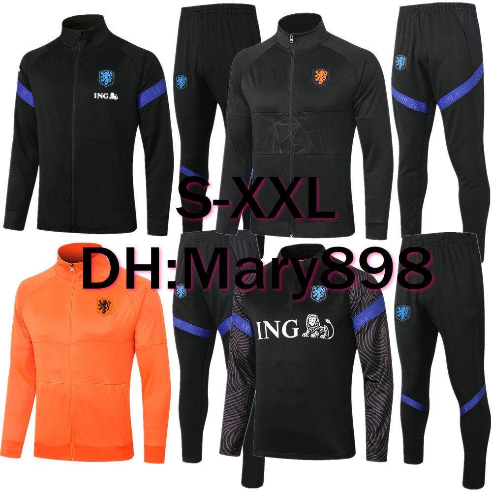 Superqualität Niederlande 2020 2021 De Jong Wijnaldum Virgil Strootman Memphis Holland Training tragen / kann separat verkauft werden Jacke / Hosen