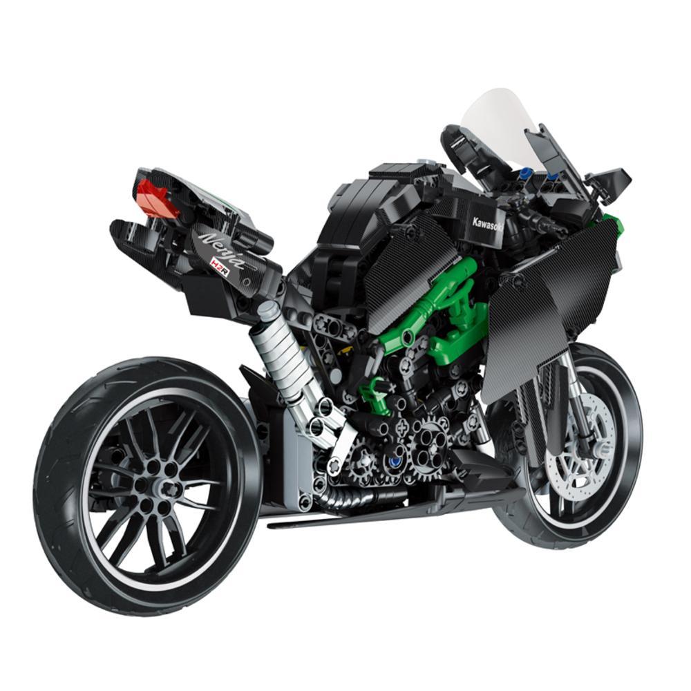2020 Новейшая игрушка 1:12 Масштаб H2R Мотоцикл Легуя Техника Строительный блок Игрушки