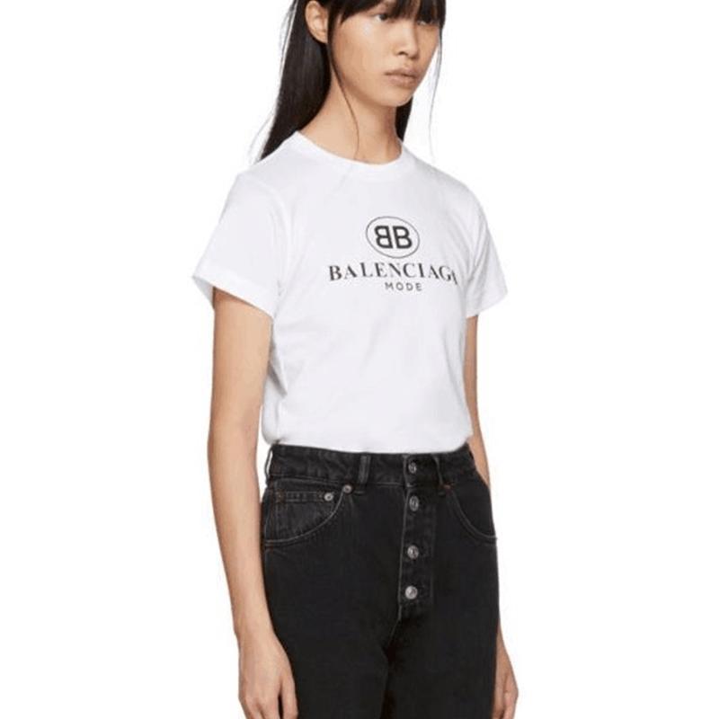 Moda Marca de manga corta para hombre nueva letra impresión coreana camiseta casual