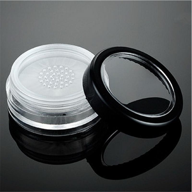 10г Loose Powder Jar Empty Cosmetic С Ситом И пустая пудреница Упаковка Контейнер мучнистой Cake Box многоразовыми