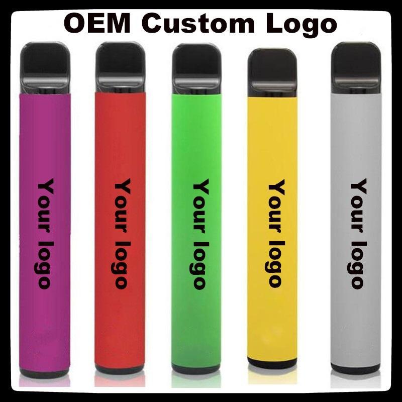 Customized Disposable E-cigarettes PUFF BAR PLUS 800+Puffs Vape Pen 550mAh Battery 3.2ml Pods Cartridges