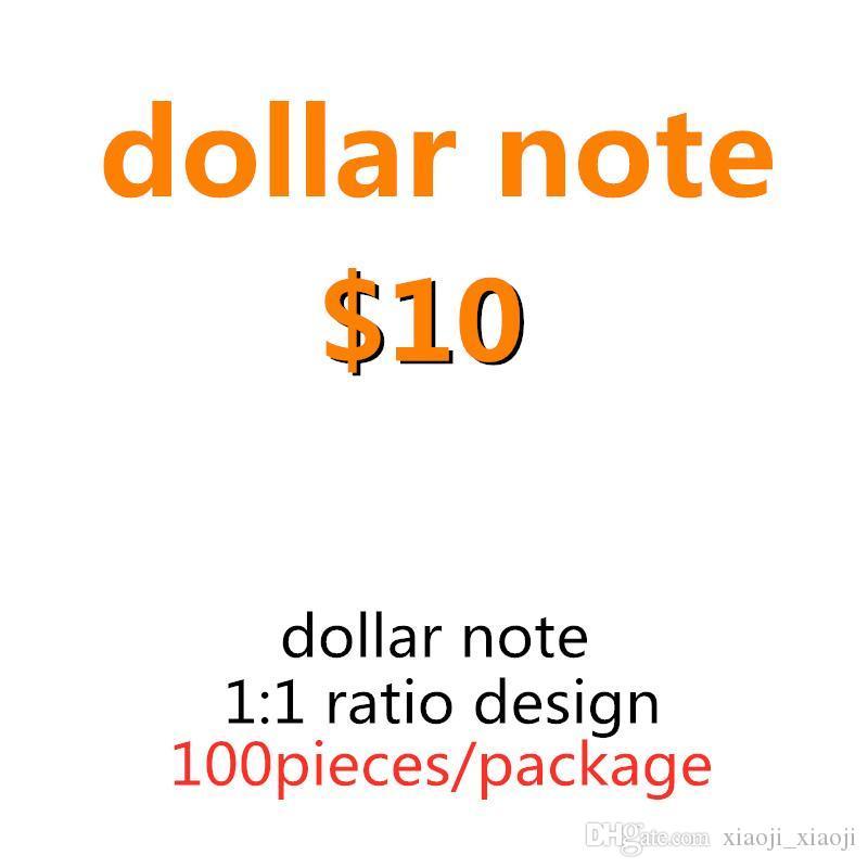 Famille 10 Dollar Billette Faux Copie 100pcs / Pack jouet US Money BankNote Milieu Papier Money PROPS ENFANTS REALISTIQUES LA PLUS PLAYER 03 UEBBG