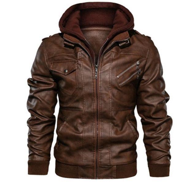 2021 sıcak Vintage Moda Klasik Erkekler Kış Ceket Kalın Coat Moda Fermuar Ceket Erkekler PU Kürk Çizgili Sıcak Coat Erkekler Kahverengi siyah BOYUT S - 5XL