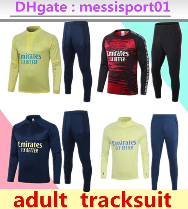2020 2021 Arsen Homens de Futebol Define Fatos Sportswear Jersey 20 uniformes 21 Training Polo camisa agasalho calças manga longa curto