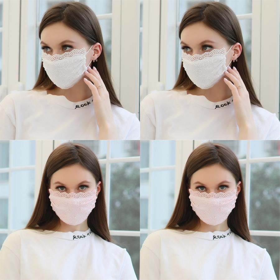 Cute Bear Print Prect Face Mouth Mask Multilayer Activated CarbonAnti Spittling Dust Mask Mascherine#803