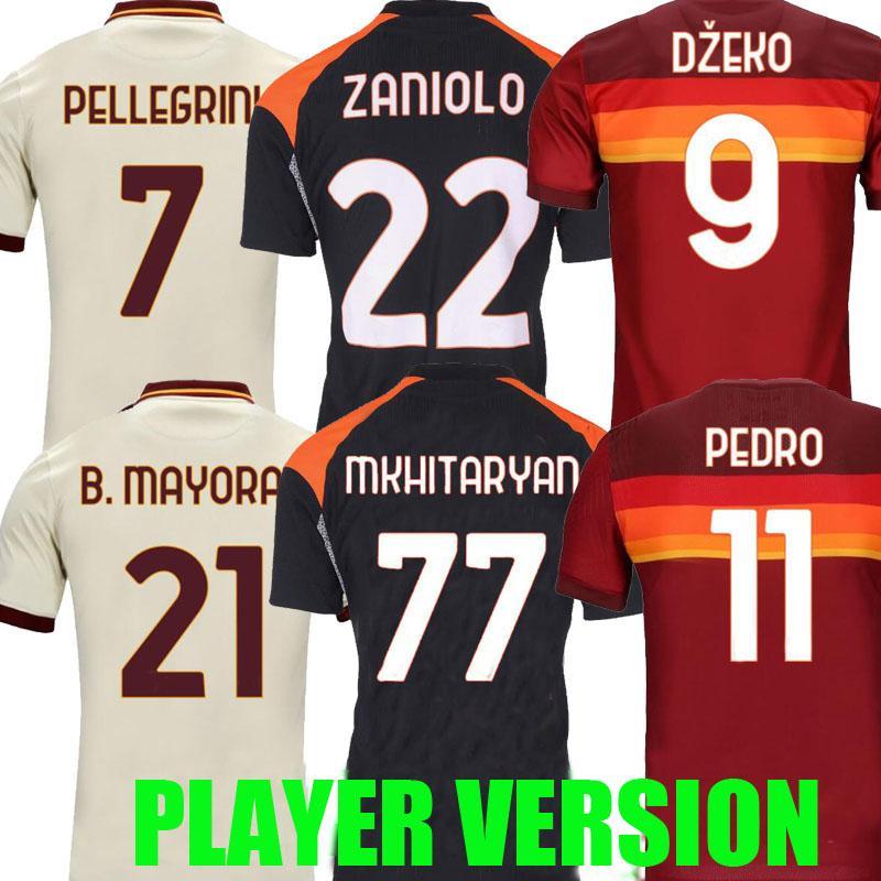 لاعب نسخة 20 21 Zaniolo Soccer Jerseys Mancini Zaniolo Perotti 2020 2021 Maglie Mailleot De Foot Kumbulla Pedro Dzeko Shirts