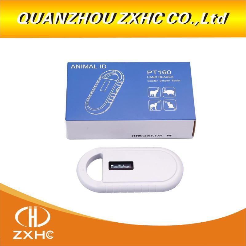 OLED portátil exibição RFID ISO11784 / 11785 134.2Khz FDX-B Microchip Scanner Leitor de cão / gato