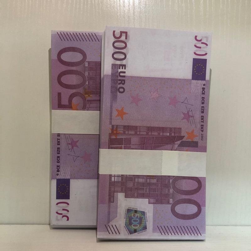 Niños Billete de banco Euro Billet Boletos Falsificación Nuevo regalo Propósito de propuesta VEVME Faux 500 accesorios Dólar Juguete Magic Paper LE500-03 LUBIP