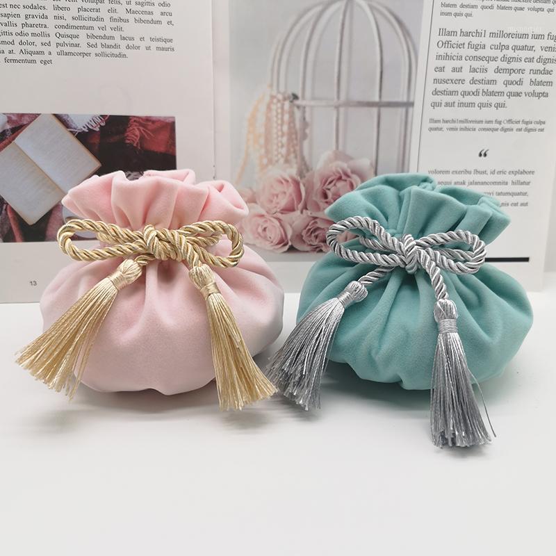 Heißer Verkauf Samt Garn Geschenkboxen für Zucker enthaltend Geschenkbeutel Hochzeit Favor Box Dekoration Candy Boxes Party Supplies1