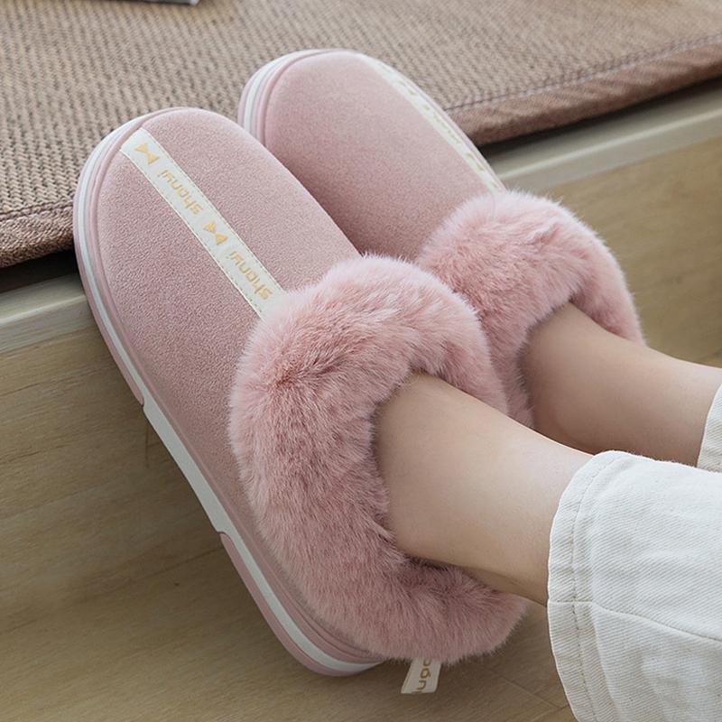 chinelos macios das mulheres camurça de designer casa sapatas das senhoras macias 2020 New quentes chinelos em casa do sexo feminino com pele tamanho grande 9-12 Indoor