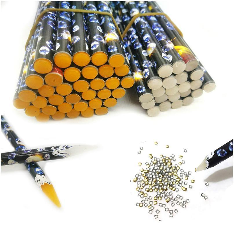 1 PCS DIY Professional Nail Art Dotting Tool Rhinestone Gems Cristal Grânulos Colheita Lápis Ponto Ponto Gel Pen Decoração Nai Jllgus