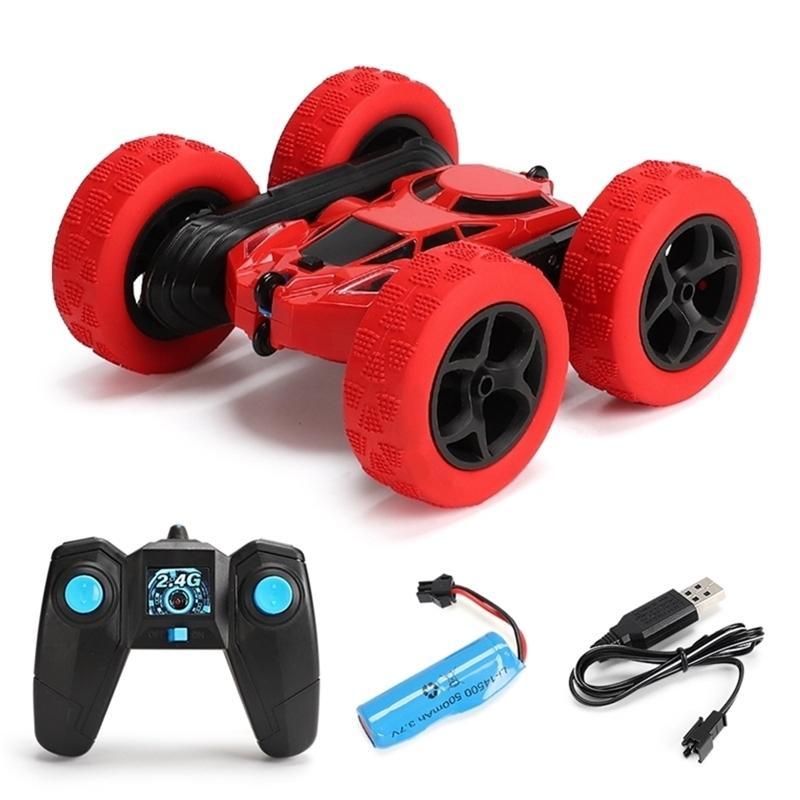 4WD RC Araba Sürüklenme Çift Yan Stunt Araba 360 Derece Yüksek Hızlı Rotasyon Eğitici Oyuncaklar Çocuklar için 2.4G Uzaktan Kumanda Dublör Araba RC 201223