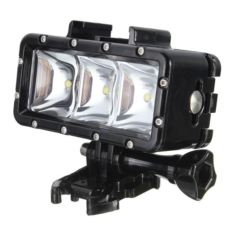 300LM 2.8W 30M Underwater impermeável LED Vídeo Lâmpada Luz para / SJCAM
