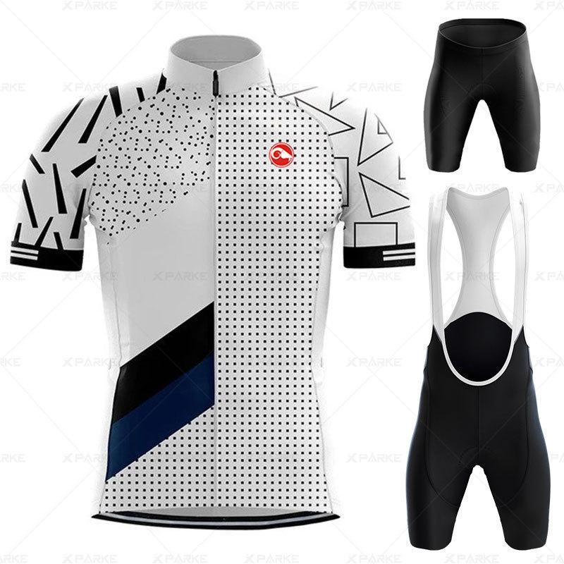 2020 Bisiklet Jersey Pro Takım Bisiklet Giyim Takım Elbise MTB Bisiklet Giysi Biber Şort Set Erkekler Bisiklet Ropa Ciclismo Triatlon C0123