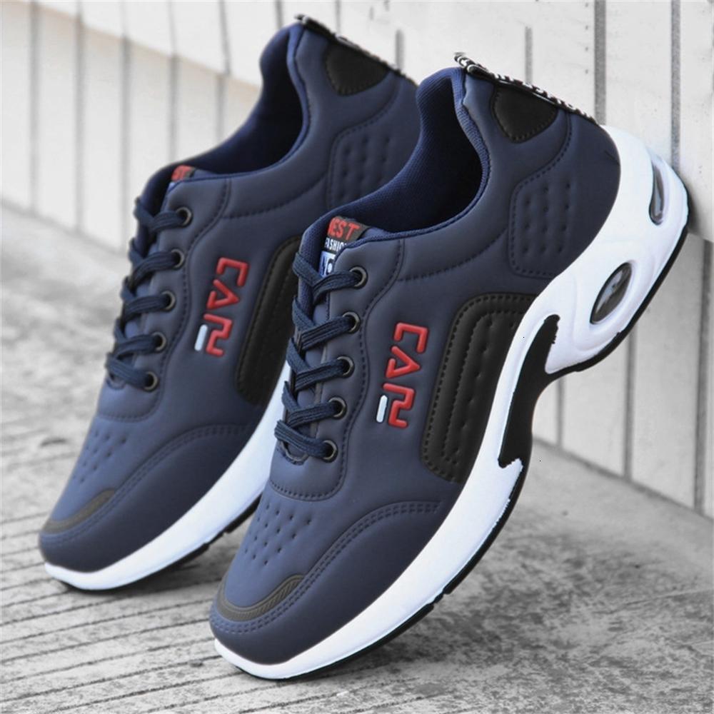 2021 Nouvelle mode Chaussures pour hommes Coussin d'air pour hommes Sneakers de chaussures de course à lacets à lacets à lacets