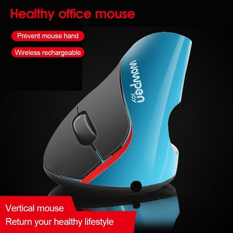 La ergonomía del juego vertical cable del ratón sin hilos del RGB 5 botones 1600 DPI óptico RGB ratón de la mano derecha ratones para PC de escritorio