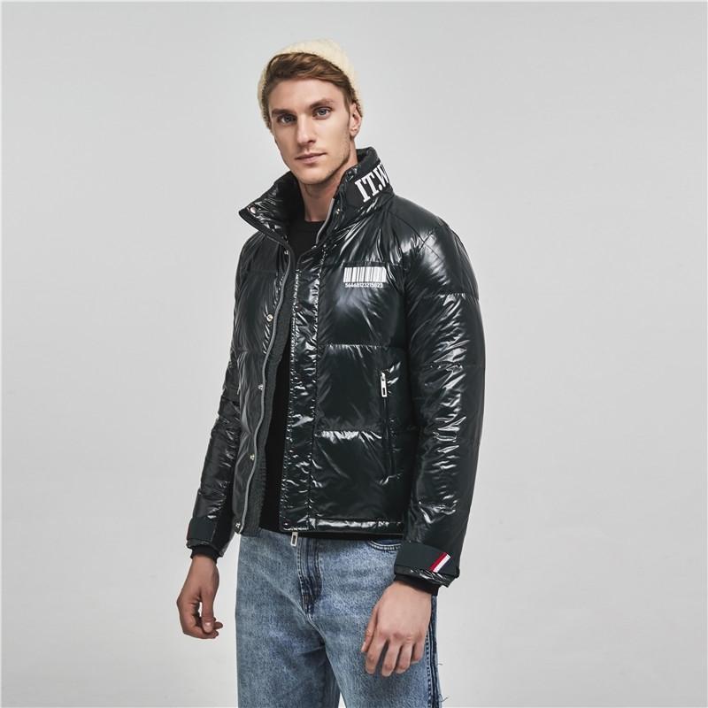 Homens jaqueta de inverno homens impermeável impermeável inverno jaqueta casaco com capuz casual outwear roupas casaco para baixo 201199